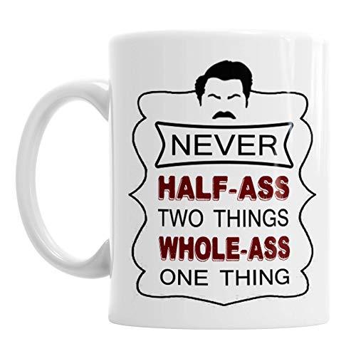 Ron Swanson Mug,Funny Quote Christmas Ceramic Coffee Mug Tea Cup,Cute Cartoon Coffee Mugs Gift