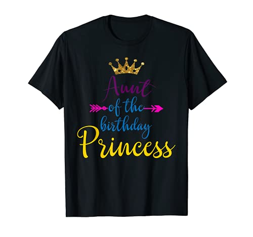 Fiesta divertida de la tía del cumpleaños de la princesa a juego Camiseta