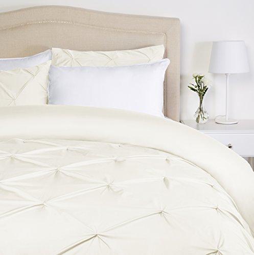 Pinzon - Bettwäsche-Set mit Quetschfalten, 260 x 240 cm - Naturweiß