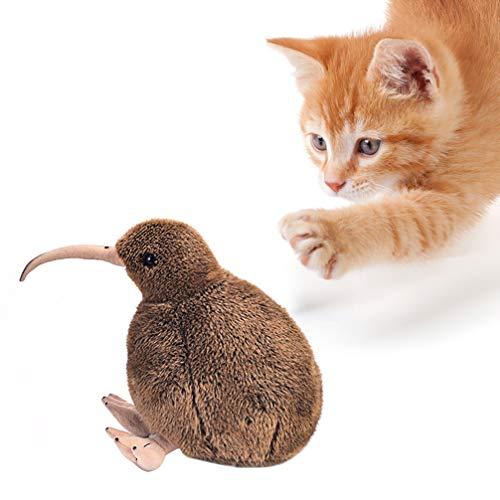 POPETPOP Pájaro Kiwi de Peluche de Juguete Animal de Peluche Simulación Pájaros Muñeca Niños Juguetes Decoración del Hogar Niños Cumpleaños Perros Pequeños (Marrón)