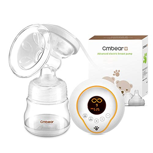 NOYMI Pain-Free Enhanced Suction Version Electric Breast Feeding Pump for Mom with Anti-Back Flow, Rechargeable Battery and Massaging Breasts (White)