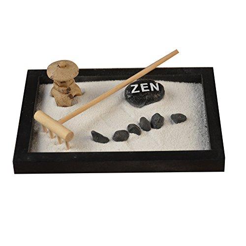 Following Statue de Bouddha de jardin zen avec sable de méditation et détente paisible Kit de décoration de jardin zen
