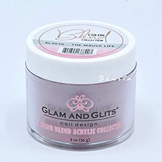 Glam And Glits Acrylic Powder Color Blend Collection BL3036 The Mauve Life 2 oz