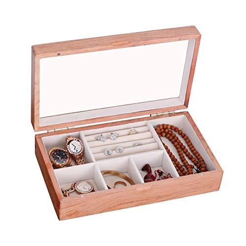Truhen GGYMEI Vintage Koffer , Design des Flanellfutterfachs Aus Messing Geeignet for Die Aufbewahrung Von Uhrenschmuckdokumenten Hölzern (Color : Beige, Size : 27.8x16x7cm)