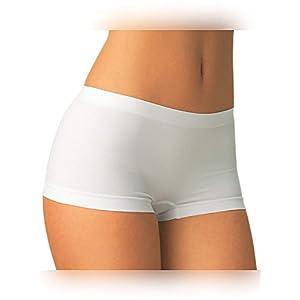 Carin Culotte Microfibra Boxer Corti Donna Shorts Corti Danza & Fitness Intimo Donna Pantaloncino Elasticizzato Corto Traspirante Set 2 Pezzi, Bianco Nero Nudo, S/m L/XL