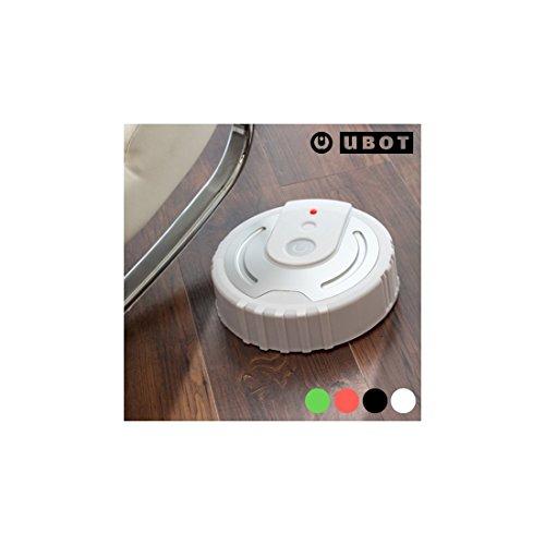Omnidomo-Ubot-Robot Mopa, 40 Paños de Microfibra, Redireccionamiento, A Pilas (4 x AA), Color Blanco, 26 x 7 cm