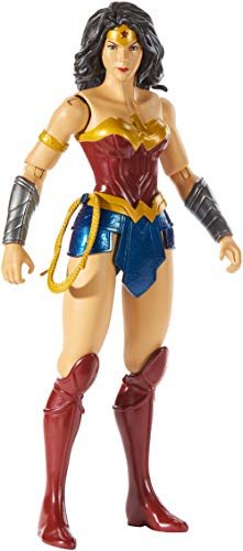 Mattel GDT53 - DC Justice League True-Moves Actionfigur (30 cm) Wonder Woman, Spielzeug ab 3 Jahren