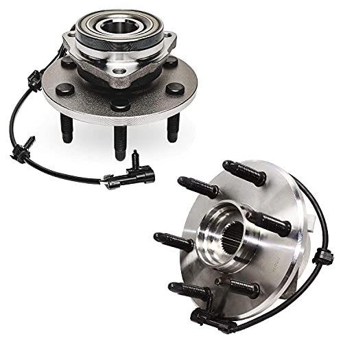 Detroit Axle 515036HD Front Wheel Hub Bearing Assembly 6 Lug Heavy Duty for Driver and Passenger Side 4x4 4WD AWD Models Set of 2