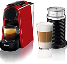 Nespresso Essenza Coffee Machine, Irochino 3 Foam Maker, Red