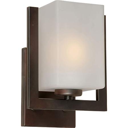 Forte Lighting 2 Light Wall Sconce 5125-02-55 Brushed Nickel Modern Satin Opal