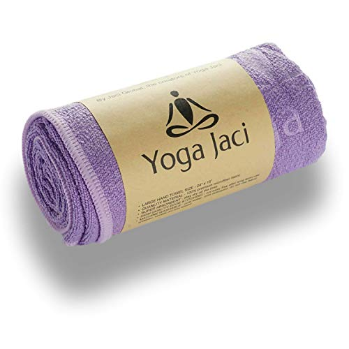 "Yoga Hand Towel - Premium Microfiber Materials Edge Stitching - Durable and Long Lasting (Purple, 1 Hand Towel 24""x15"")"