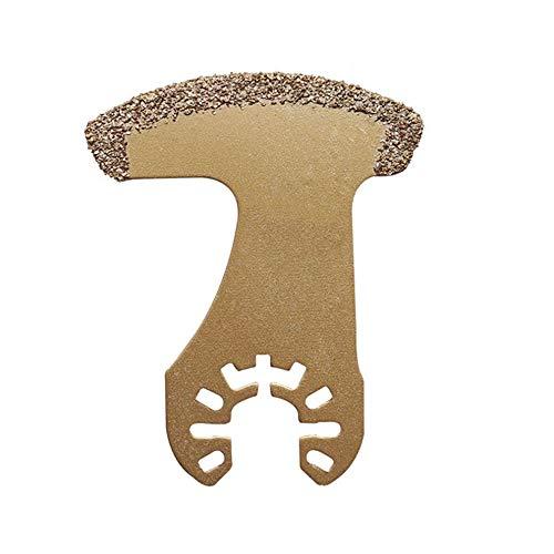 QiKun-Home Herramienta oscilante multifunción de carburo de Diamante, Hojas de Sierra de molienda para baldosas de Porcelana de cerámica, Herramienta de Corte de Metal, Oro D