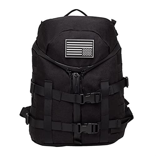 Mochila Bolsa de Combate Gear Assault Chalt Accessors Mochila Mochila al Aire Libre Camo Pack (Color : A Black)