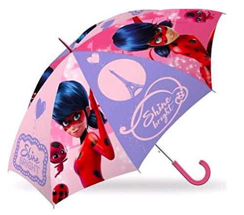 Miraculous Ladybug Regenschirm Kinderschirm - Kinder Stockschirm - Schirm Kinderregenschirm / Glockenschirm - mit Sticker-von-Kids4shop