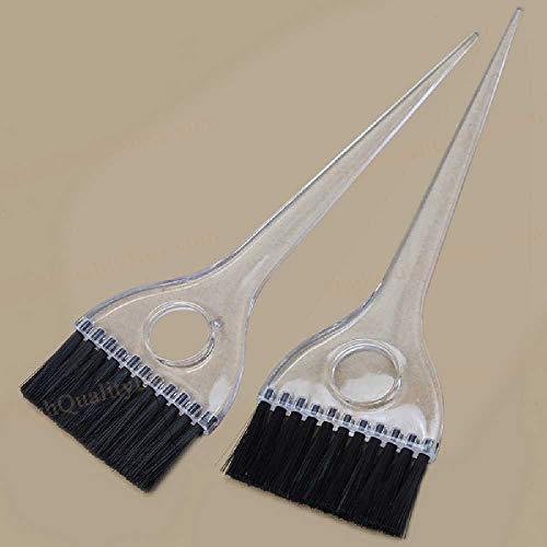 NIUHAIQING 2 Pièces Brosse De Teinture Pour Les Cheveux Professionnel En Plastique Application De Salon Brosse De Coloration Cheveux Styling Maquillage Outil noir
