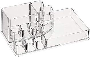 AmazonBasics Square Acrylic Cosmetic Makeup Organizer Storage, Large