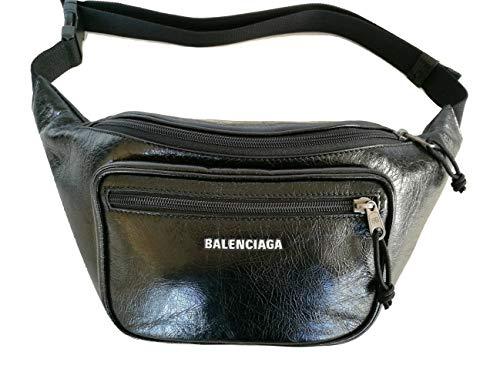 Balenciaga Luxury Fashion Homme 529550DB5J51000 Noir Cuir Sac Banane | Saison Permanent