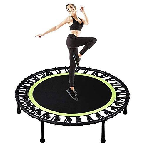 Deportes al aire libre Niños adultos Buque Trampoline 40 'Mini trampolín plegable, fitness Trampoline con almohadilla de seguridad, Estable y tranquilo Ejercicio Cebañador para niños adultos interior