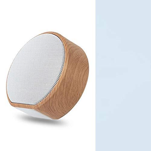 Woodtree Mini Computer subwoofer Piccolo Stereo Speaker Carta di Legno Senza Fili Bluetooth (Color : 7)