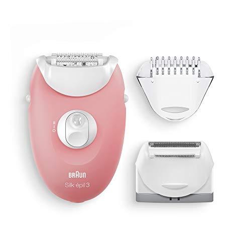 Braun Silk-épil 3 SE 3-440 Set per le Prime Epilazioni 3-In-1, Epilatore Elettrico Donna con Luce SmartLight, Testina Radente e Regolatore, Bianco/Rosa