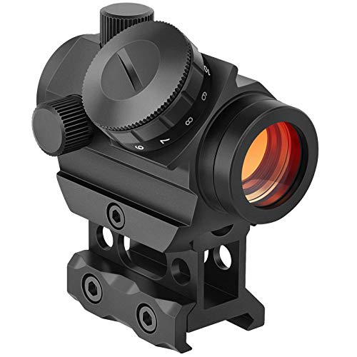 LQG Red Dot Sight 1X20 miras Reflex holográficas de 11 velocidades, con Montaje en riel de 20 mm y Aumento de Montaje en riel Vertical Accesorios de Caza tácticos
