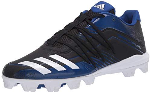 adidas Men's Afterburner 6 Grail MD Cleats Baseball Shoe, core Black/FTWR White/Collegiate Royal, 11 M US