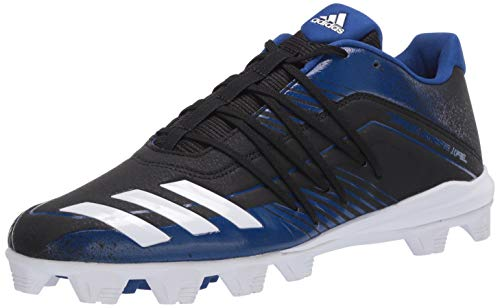 adidas Men's Afterburner 6 Grail MD Cleats Baseball Shoe, core Black/FTWR White/Collegiate Royal
