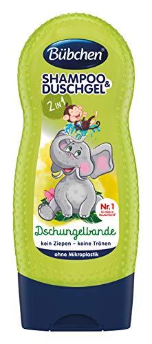 Bübchen Kids Shampoo & Duschgel Dschungelbande, Kinder-Shampoo & -duschgel, pH-hautneutrale Pflege für Kinderhaut, mit frischem Duft, 1er Pack (1 x 230ml)