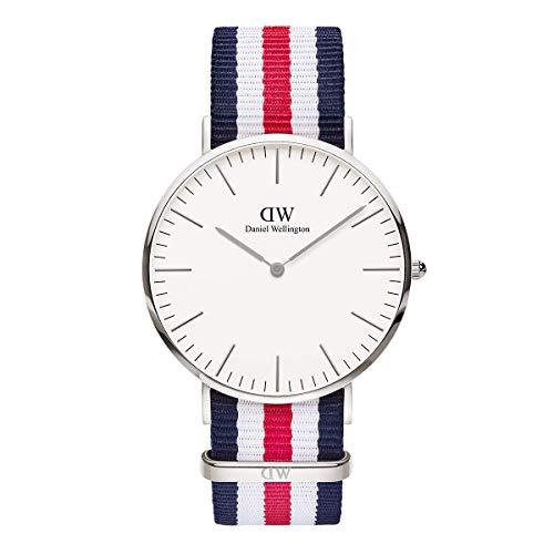Daniel Wellington Classic Canterbury, Blau-Weiß-Rot/Silber Uhr, 40mm, NATO, für Herren