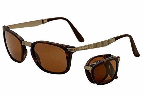 SERENGETI Volare 8495 Tortoise/Gold Polarized Drivers Folding Sunglasses 54mm by