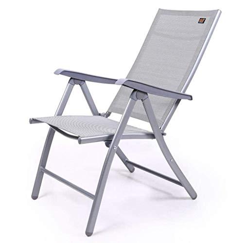 Silla plegable reclinable con gravedad cero, tumbonas reclinables Taburete plegable en textoline resistente a la intemperie (Color: triple + almohadilla de algodón, Dimensiones: 69 * 60 * 110 cm)