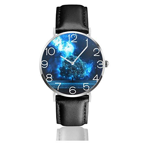 木 星空 光 幻 腕時計 超薄型 軽量 ステンレス製 ブレスレット 40mm 防水 男女兼用