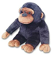 """Jumbo sized, huggable chimp Squeeze his head and he goes completely ape Incredibly lifelike """"chattering chimp"""" voice box. Made from super soft material"""