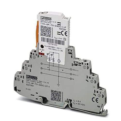 PHOENIX CONTACT TTC-6P-T3-24DC-UT-I - Dispositivo de protección contra sobretensiones (tipo 3, 37.400 g)