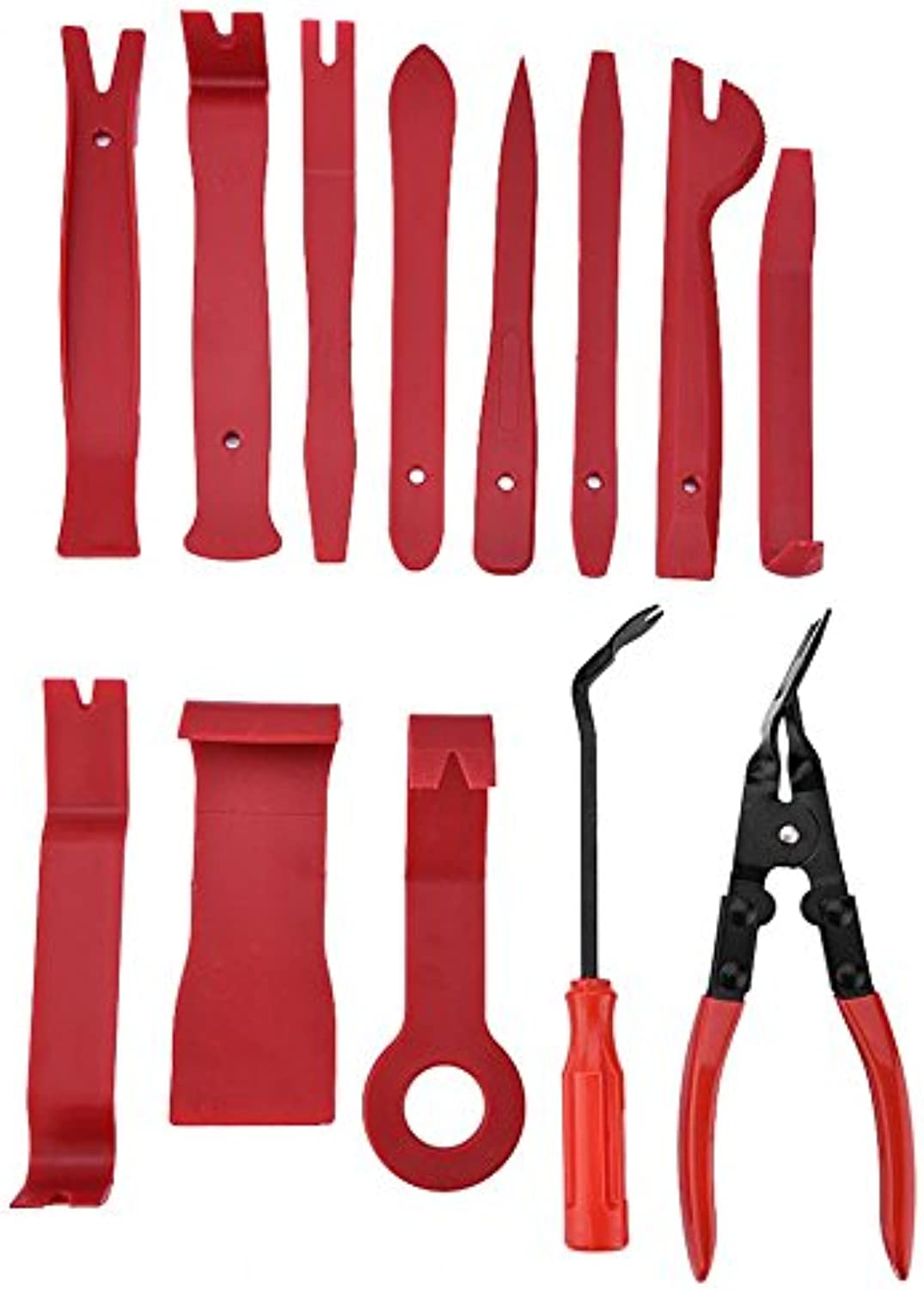 Hand Tool Sets  13pcs Car Door Panel Trim Removal Tool Dashboard Clip Puller Pliers Fastener Kit  Shaft Ready Solidifying Puppet Arranged Peter Mark Rigid Nonmoving Drive
