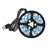 LAANCOO LED de Luces de Tiras de Cinta USB Impermeable Blanca Caliente Ligera 5V 4M para la decoración de Navidad del Partido del hogar