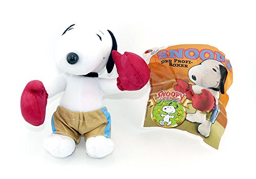 Kinder Überraschung, Snoopy als BOXER mit Beipackzettel (Plüschfigur aus dem Maxi Ei)