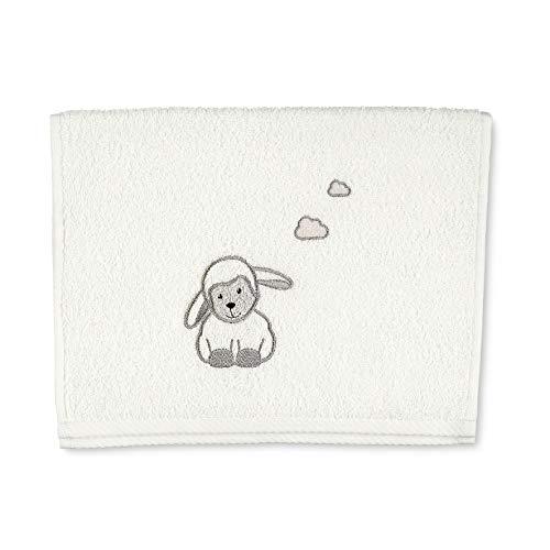 Sterntaler Serviette de Bain Enfant Mouton Stanley, Âge : À Partir de 0 Mois, 50 x 30 cm, Beige (Ecru)