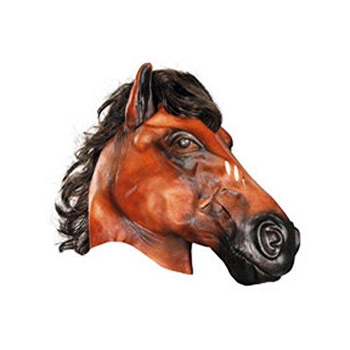 Adult Deluxe Vinyl Black Horse Mask w/ Mane