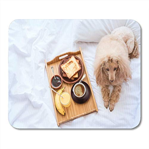 Mauspads Brown Eat Frühstück in French Toasts Tasse Kaffee Mouse Pad für Notebooks, Desktop-Computer Matten Büromaterial
