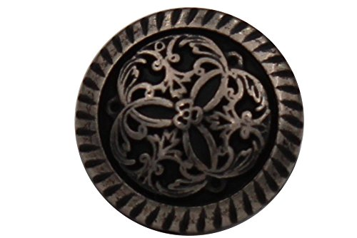 Silber antik Metall Knöpfe Trachtenknöpfe Dirndl Knöpfe Ösenknöpfe 12mm Nähen DIY (6 Stück)