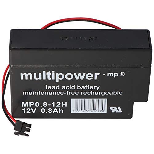Multipower Bleiakku MP0.8-12H Heim und Haus 12 Volt 800mAh Kabel mit AMP-Buchse