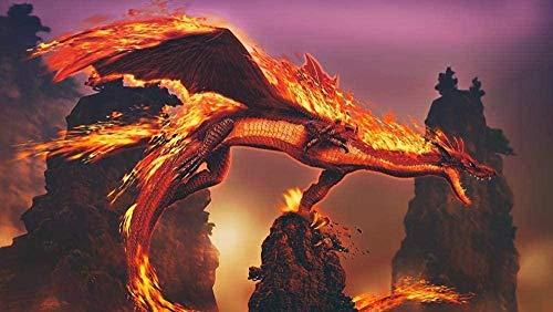 ChuYuszb puzzle 1000 bitar av vuxna fantasy eld drake pussel barn pussel barnens trä material intellektuella familjen spel stress relief leksak