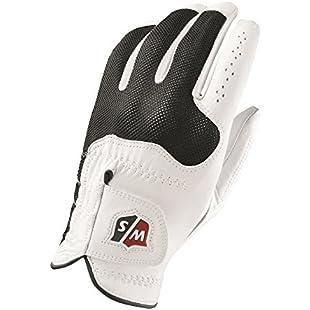 Wilson Staff Men's Golf Glove, Cabretta leather, Size S, Left hand, Men's Left Hand, White/Black, Conform, WGJA00300S:Bemdesaude