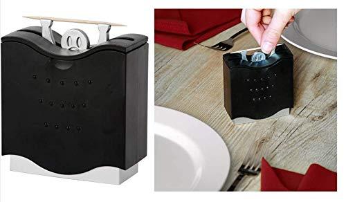 Zahnstocherspender Pick a Boo Zahnstocherhalter Guck Männchen, Kunststoff, schwarz