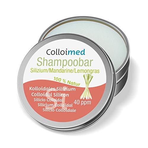 Colloimed Shampoo-Bar Naturkosmetik mit kolloidalem Silizium 40ppm Silizium/Mandarine/Lemongras