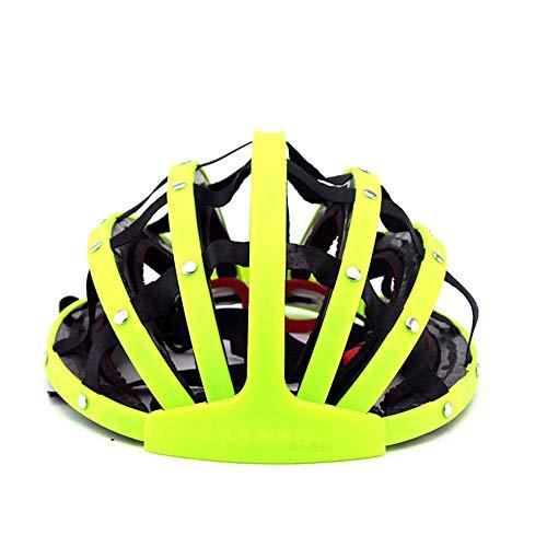HKRSTSXJ Montar Bicicleta de montaña Casco Plegable Conveniente del Casco Casco de la Bici Casco de equitación Transpirable Hombres y Mujeres de Seguridad del Casco de Ciclista (Color : Amarillo)