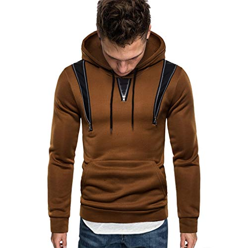 Best Price Men Winter Hoodies Slim Fit Casual Fashion Printed Patchwork Long Sleeve Hooded Sweatersh...