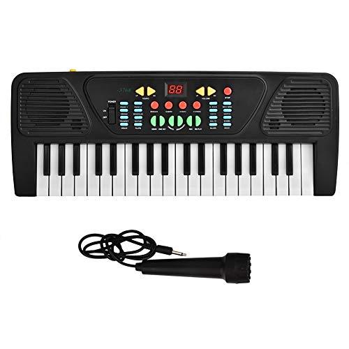 OhhGo 37 Tasten Elektronisches Klavier Tastatur Kinder Digitales Instrument Spielzeug mit Mikrofon Batteriebetrieben