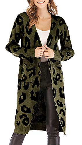 - This Women Leopard Cardigan use the high quality material, provide you warm and trendy when wearing it. It's Stretchable, soft and comfy. - Perfect for all the occasions, no matter indoor activities or outdoor activities, such as Casual wearing, ou...